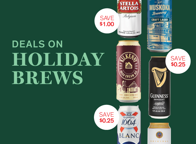 Deals on holiday brews