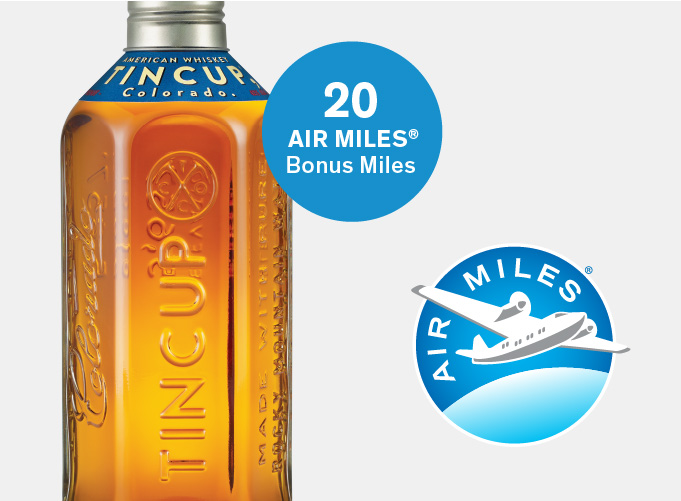 AIR MILES - 421966 Tincup American Whiskey - 20 BAMS