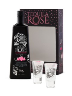 Tequila Rose Strawberry Cream Gift Pack with 2 Glasses