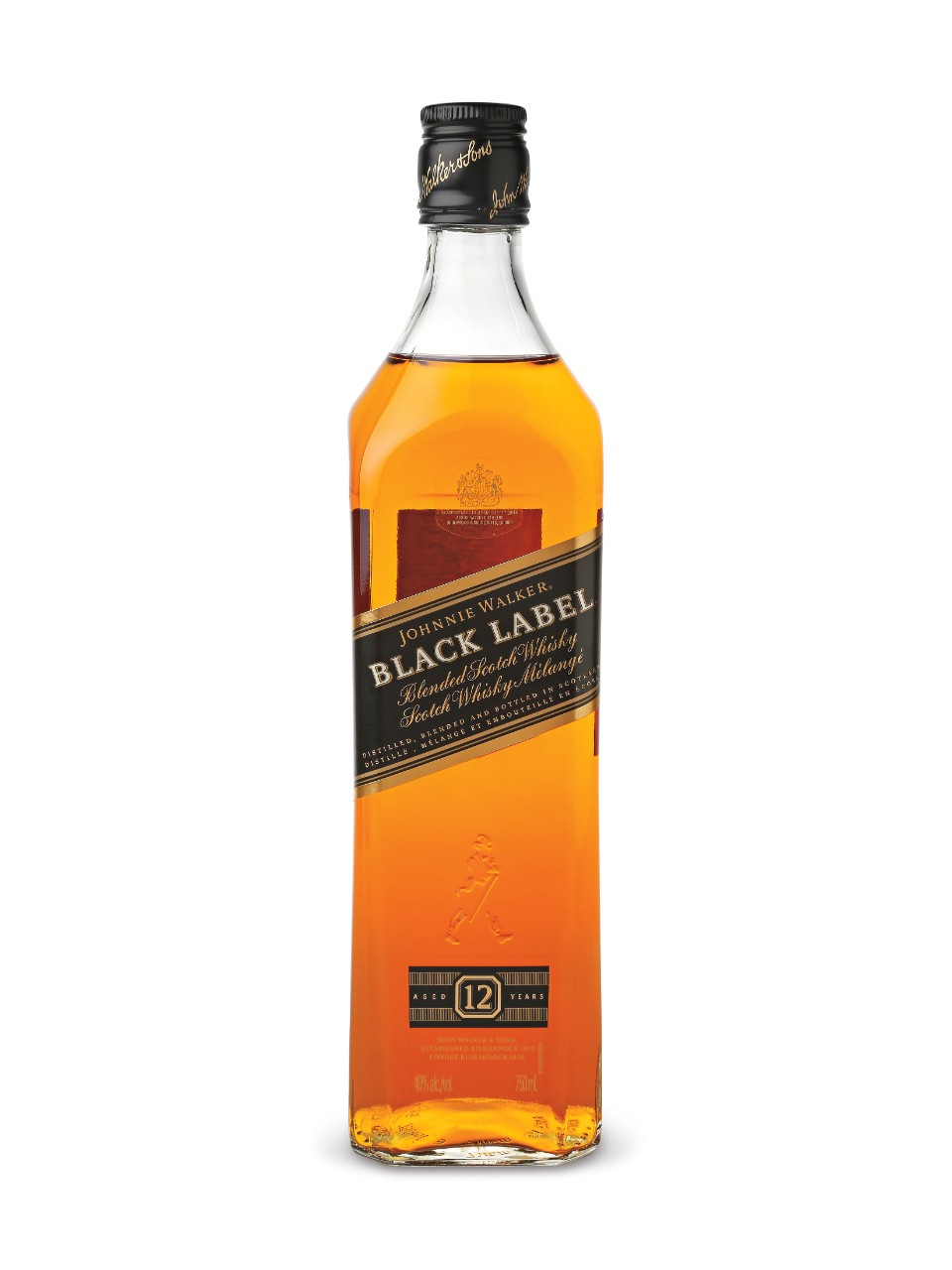 Whisky écossais Johnnie Walker Black Label 12 ans d'âge