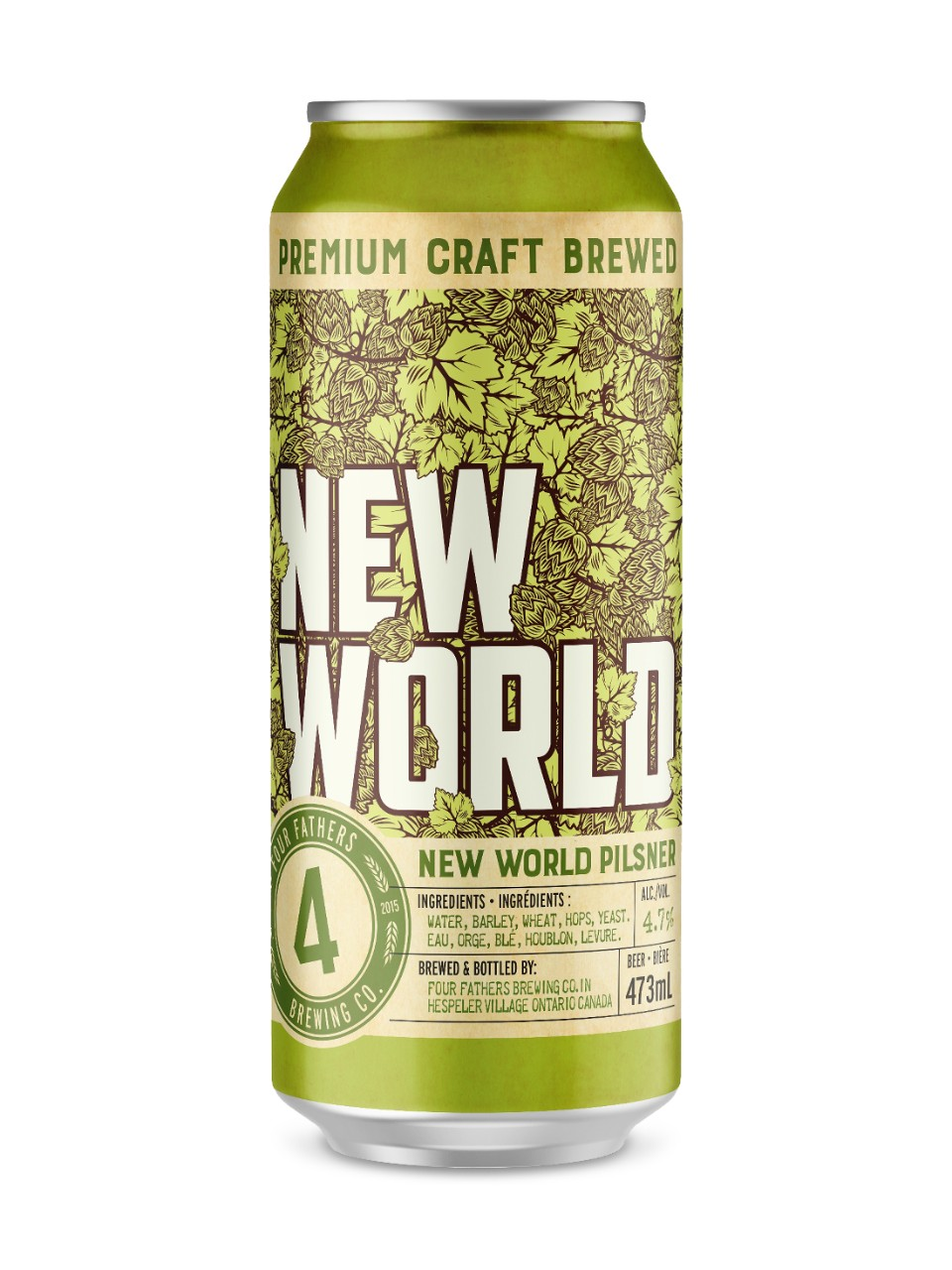 Image for Four Fathers Brewing New World Pilsner from LCBO