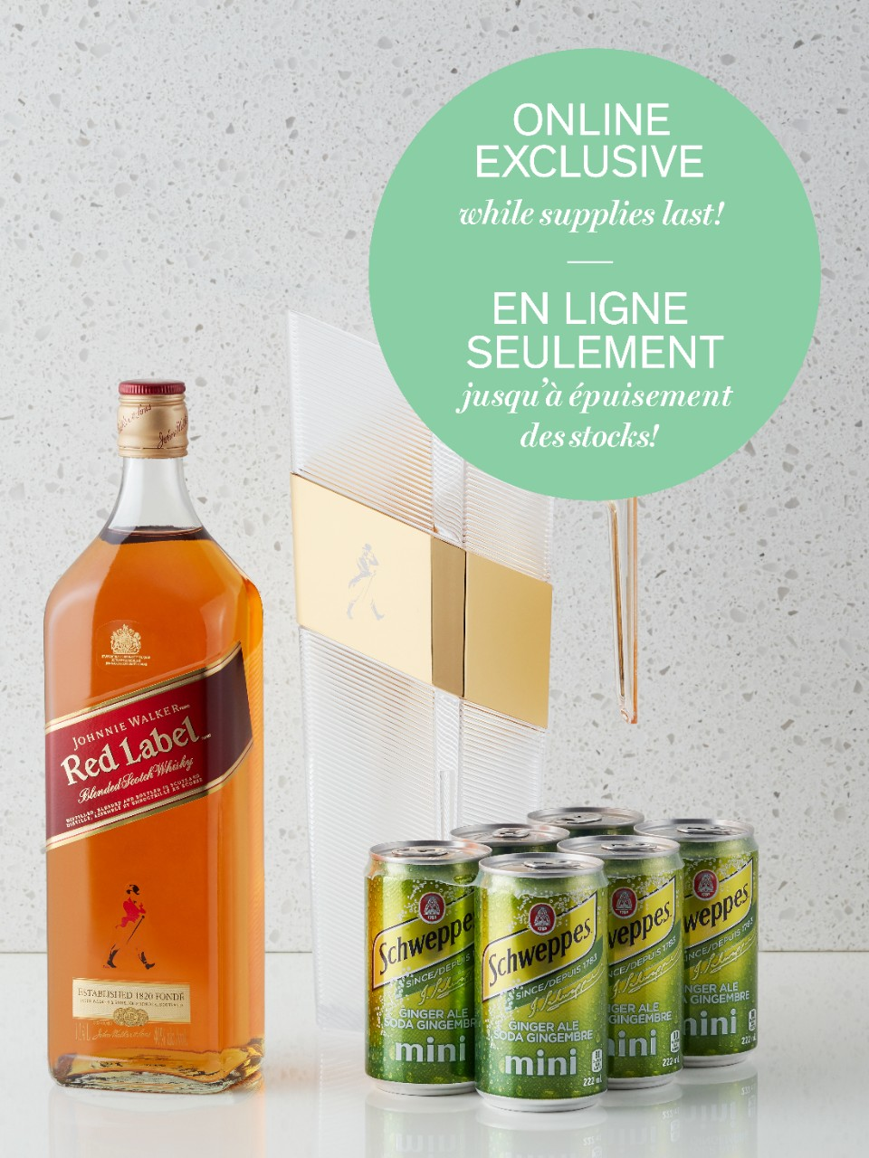 Image for Johnnie Walker Red & Ginger Pitcher Online Exclusive from LCBO