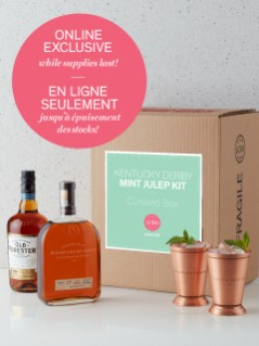 Whiskey américain Kentucky Derby Mint Julep Kit