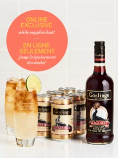 Gosling's Bermuda Black Seal Rum with FREE Ginger Beer and Glassware