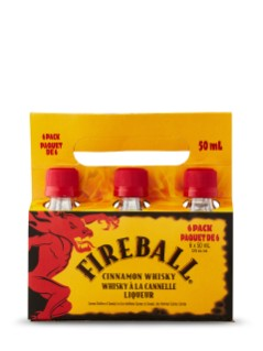 Fireball 50ml 6 Pack Carrier