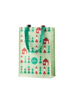 Holiday Reusable 2 Bottle Bag