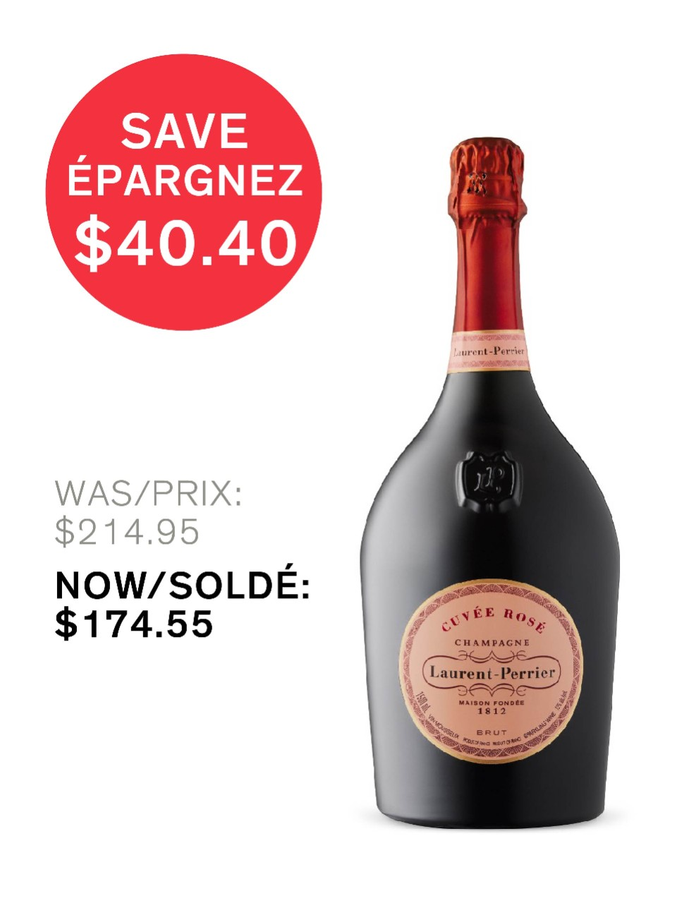 Image for Laurent-Perrier Cuvée Rosé Brut Champagne from LCBO