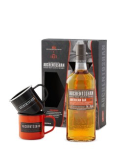 Auchentoshan American Oak with 2 Mugs