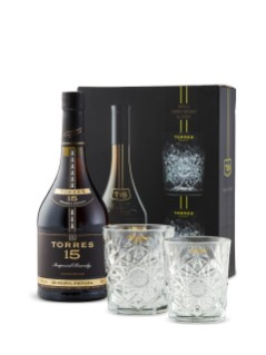Torres Brandy Gift Pack with 2 Glasses