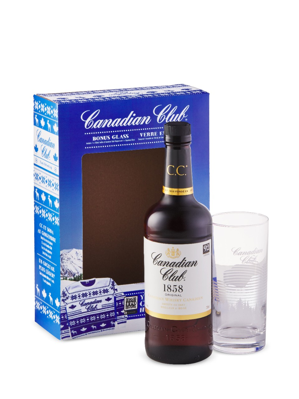 Canadian Club 1858 Gift Box with Signature Glass from LCBO