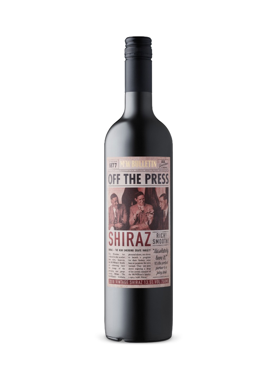 Off The Press Shiraz from LCBO
