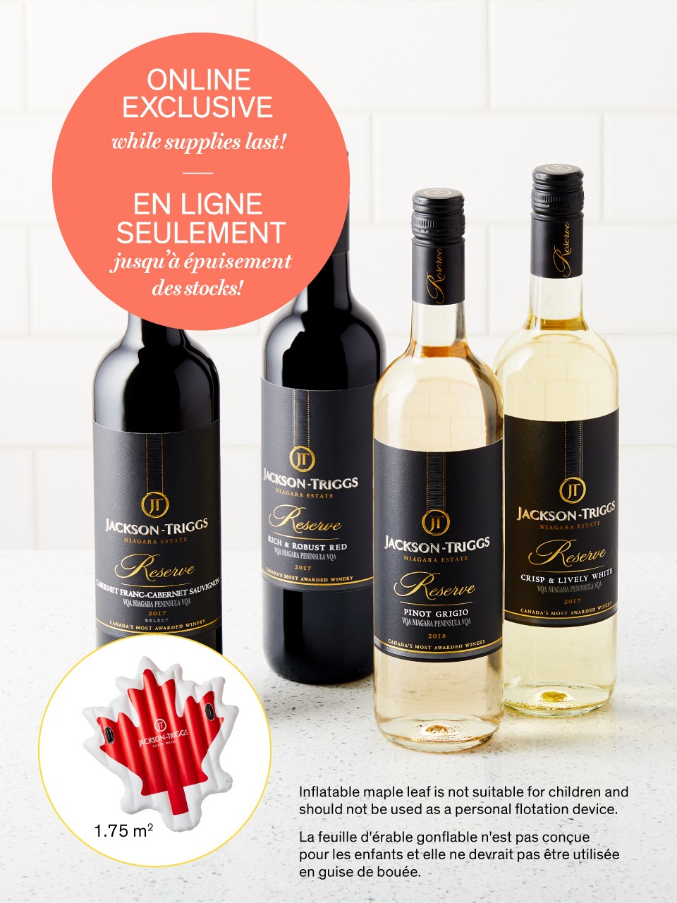 Image for Jackson-Triggs Wines + Canada Flag Pool Float Offer from LCBO