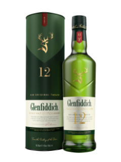 Whisky écossais Single Malt Glenfiddich 12 ans d'âge