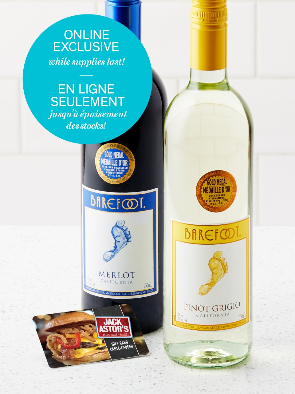 Image for Barefoot Pinot Grigio & Merlot Wine Special Offer from LCBO
