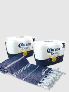 Corona with FREE Beach Blanket