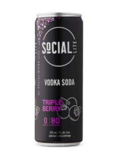 Social Lite Triple Berry Vodka Soda