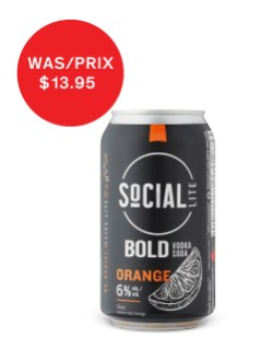 Social Lite Bold Orange Vodka Soda