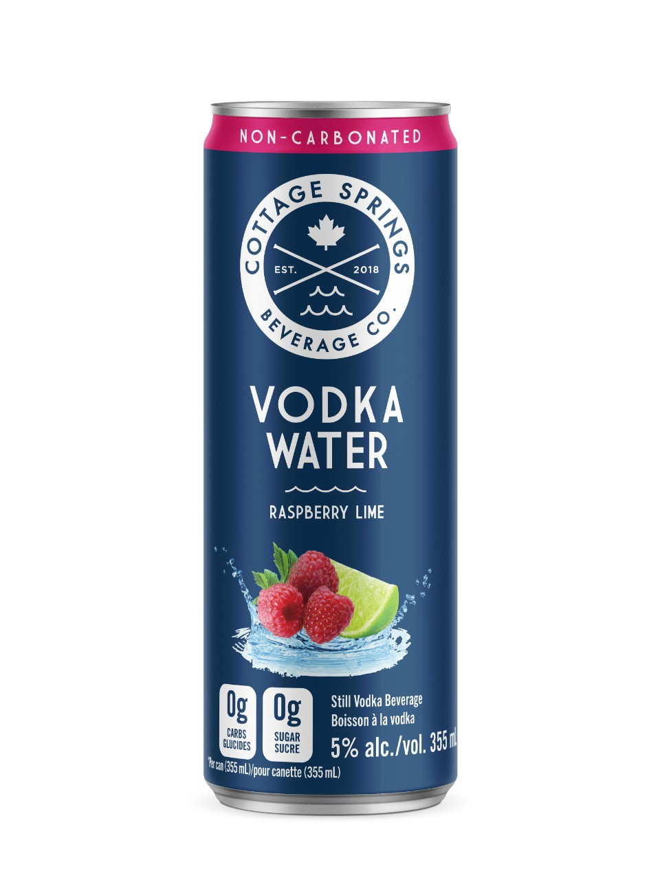 Image for Cottage Springs Raspberry Lime Vodka Water from LCBO