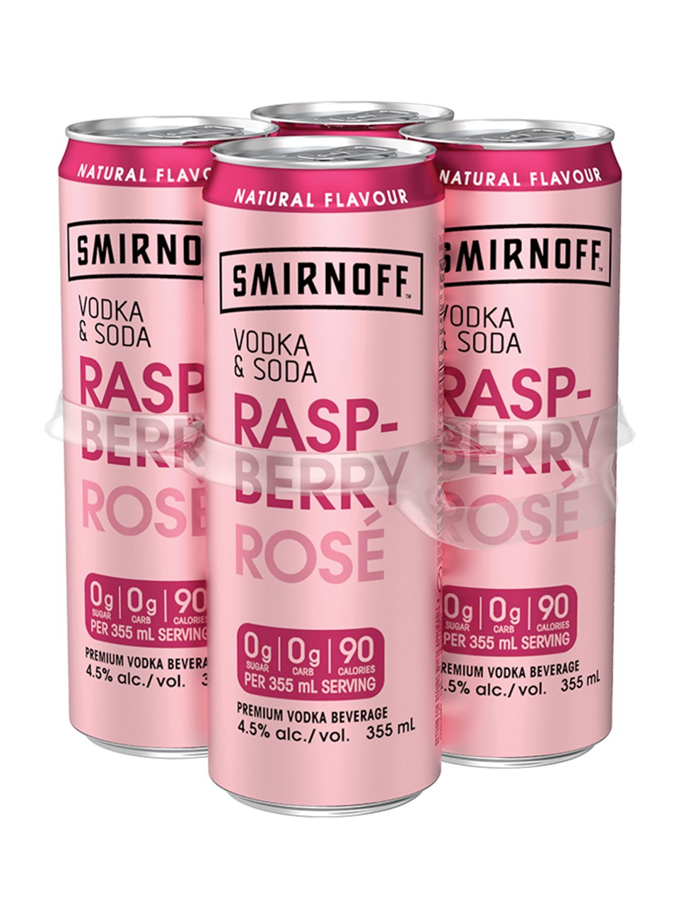 Smirnoff Vodka & Soda Raspberry Rose from LCBO