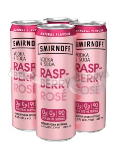 Smirnoff Vodka & Soda Raspberry Rose