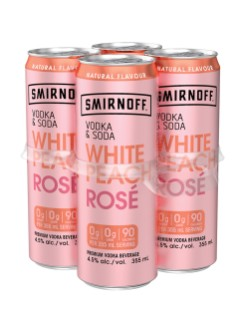 Smirnoff Vodka & Soda White Peach Rose
