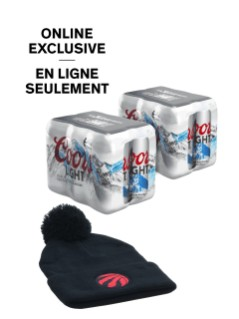 Coors Light with FREE Raptors Toque Online Exclusive