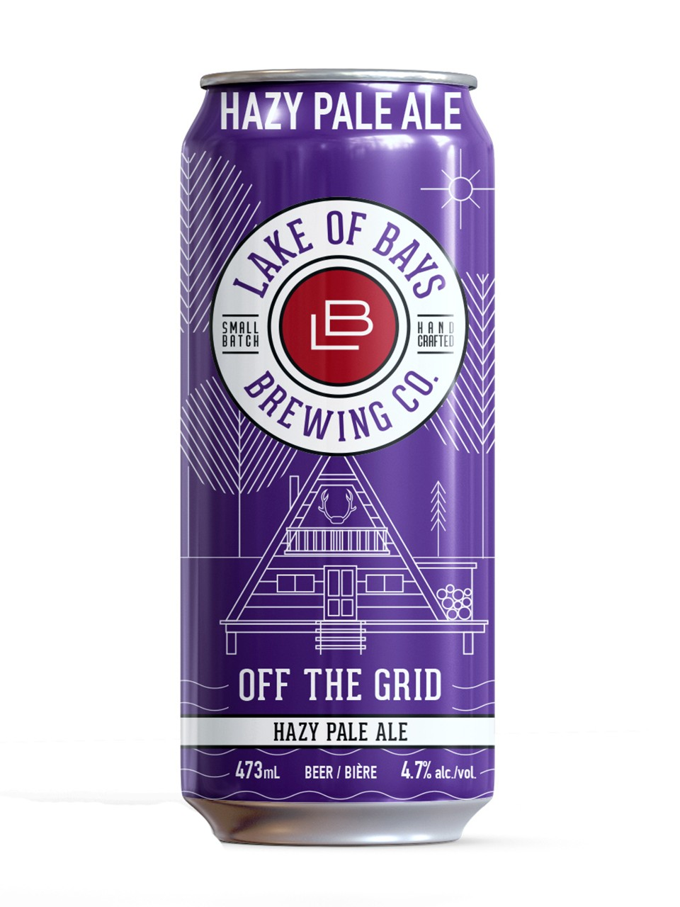 Image for Lake of Bays Off the Grid Hazy Pale Ale from LCBO