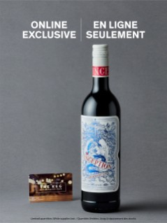 Inception Red Wine & $35 gift card to The Keg
