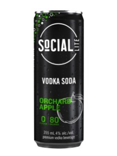 Social Lite Orchard Apple Vodka Soda