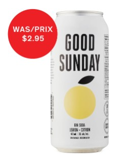 Good Sunday Lemon Gin Soda