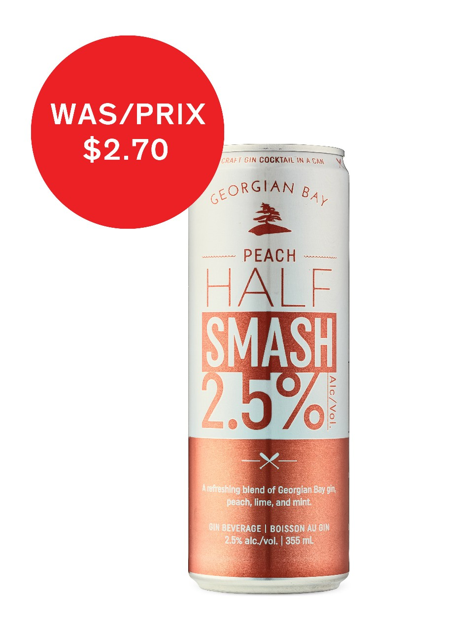 Georgian Bay Peach Half Smash from LCBO