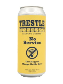 Trestle Brewing Company No Service Mango Dry Hopped Sour Beer