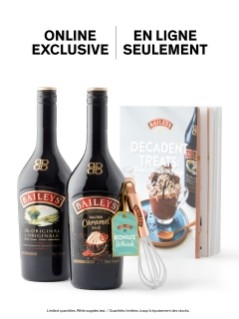 Baileys Original & Salted Caramel + FREE recipe book and whisk