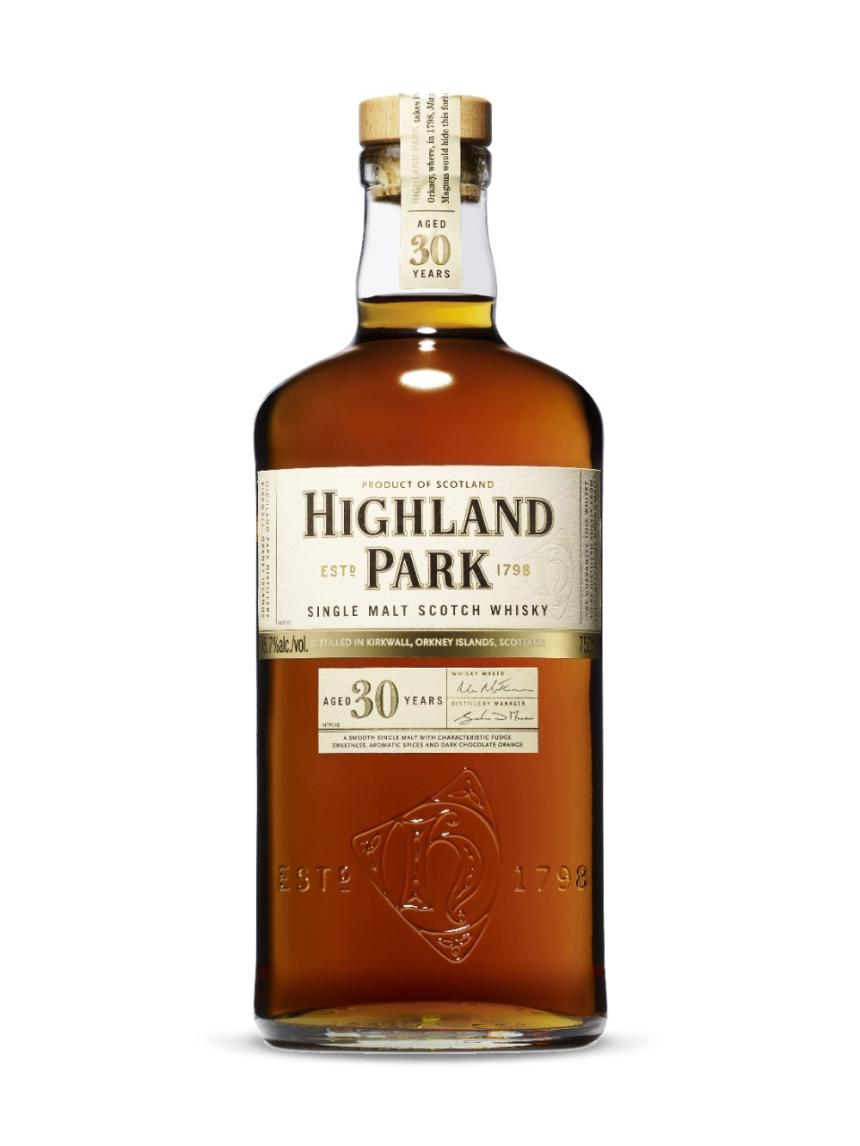 Highland Park 30-Year-Old Orkney Islands Single Malt Scotch Whisky