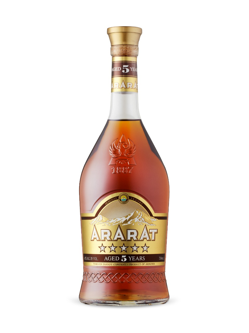 Image for Ararat Armenian Brandy 5 Years Old from LCBO