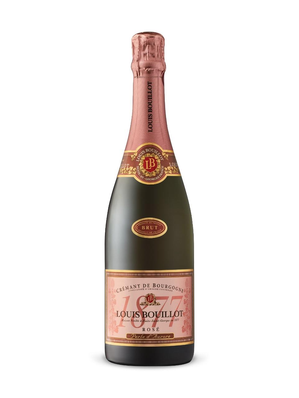 """Image result for Non-vintage Louis Bouillot Cremant de Bourgogne """"Perle d'Aurore"""" Brut Rosé"""