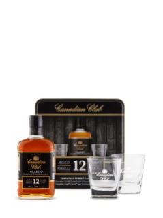 Whisky Canadian Club Classic (avec verres)