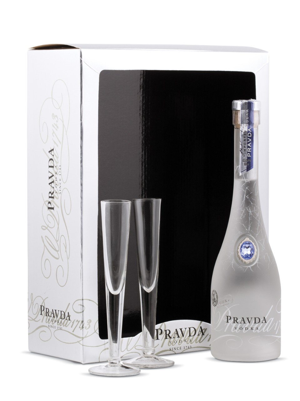 Pravda Vodka Gift Package With 2 Glasses from LCBO