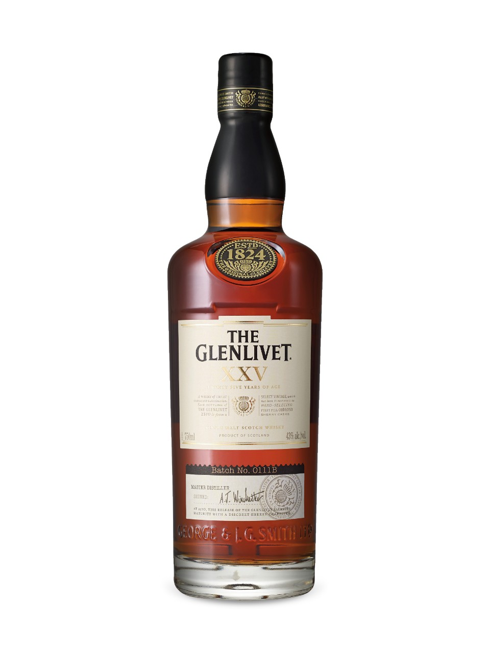 Image for The Glenlivet 25 Year Old Single Malt Scotch Whisky from LCBO