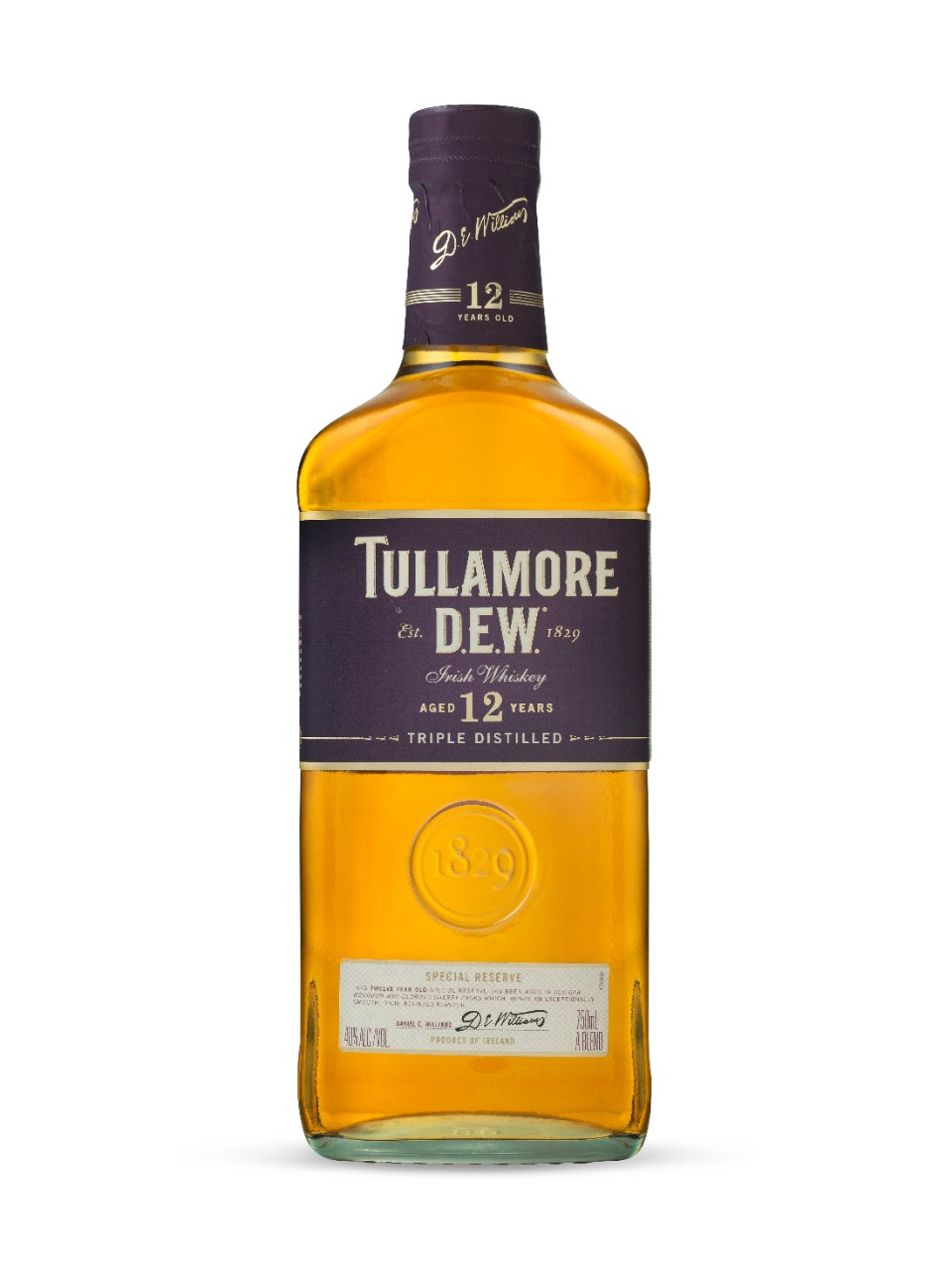 Whiskey irlandais Tullamore Dew Special Reserve 12 ans d'âge