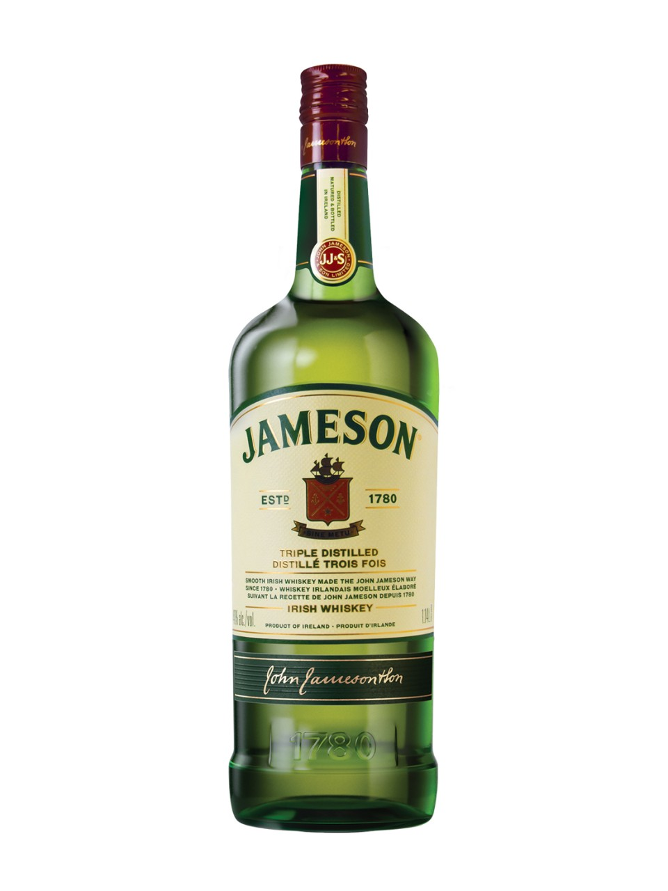 Image courtesy of LCBO comJameson Irish Whiskey Bottle