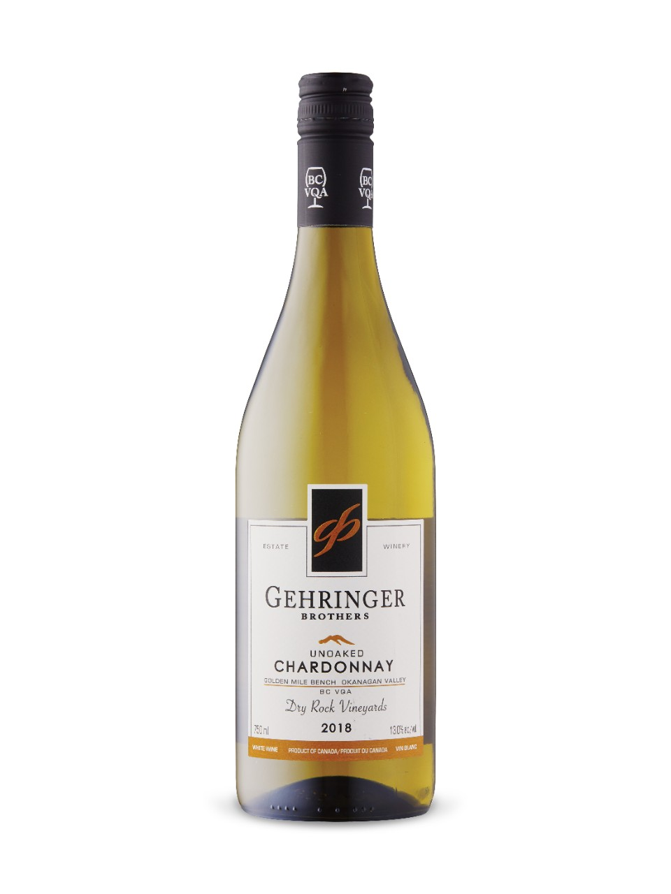 Image for Gehringer Brothers Dry Rock Vineyards Unoaked Chardonnay 2018 from LCBO