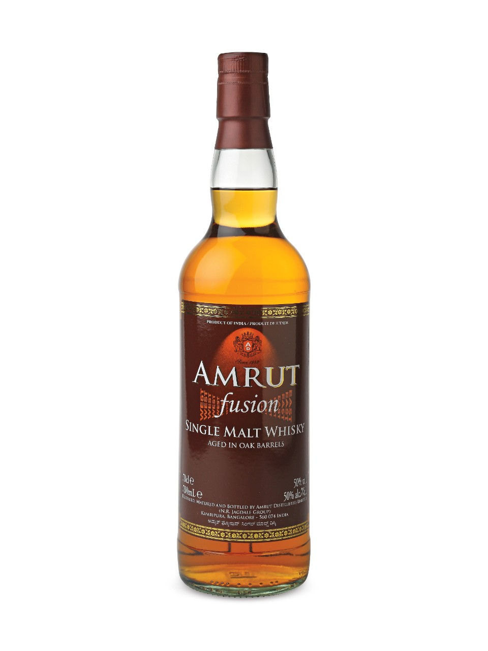 Whisky Single Malt Amrut Fusion