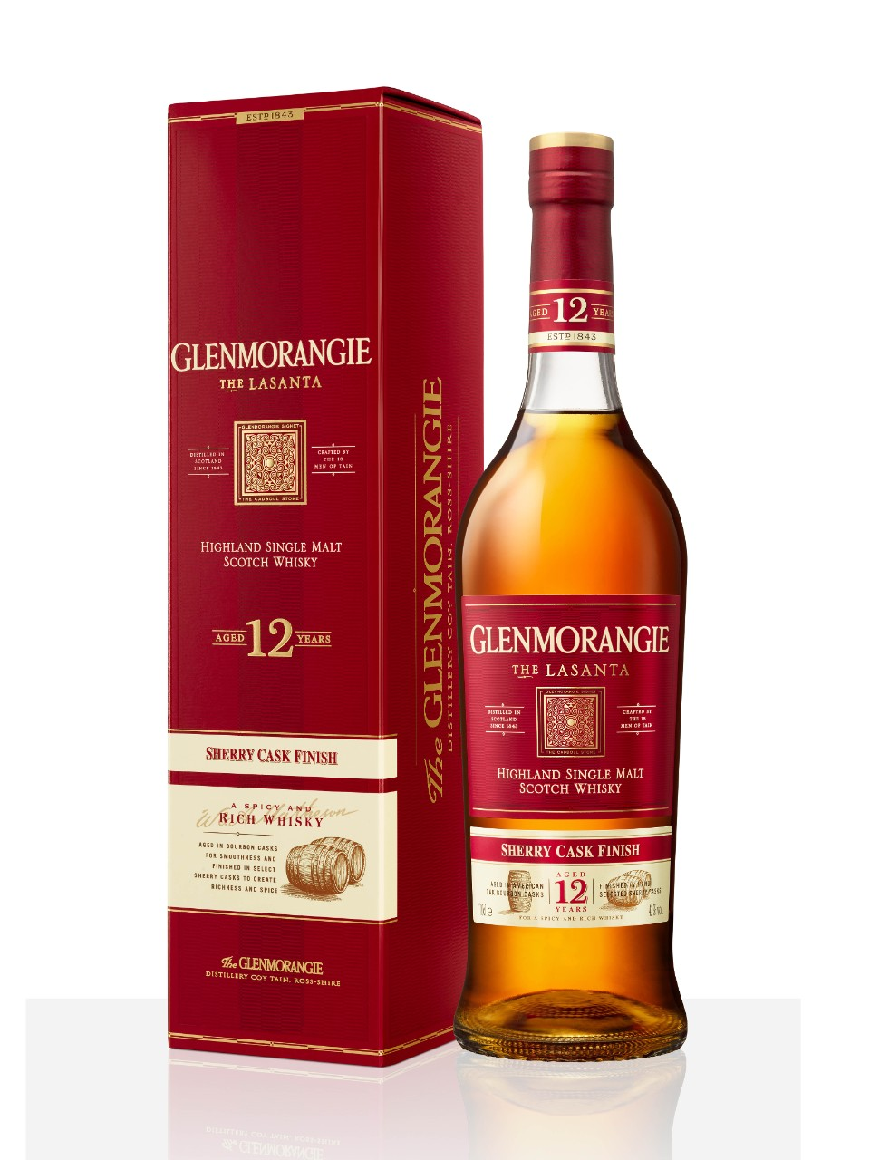 Whisky écossais Single Malt des Highlands Glenmorangie Lasanta Extra Matured