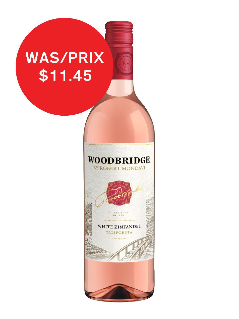 Image for Woodbridge By Robert Mondavi White Zinfandel from LCBO