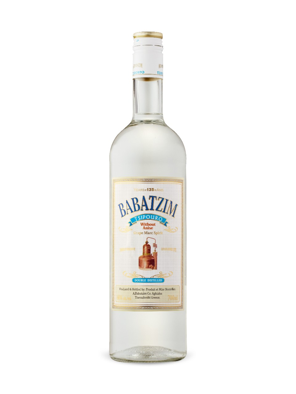Image for Babatzim Tsipouro Without Anise from LCBO