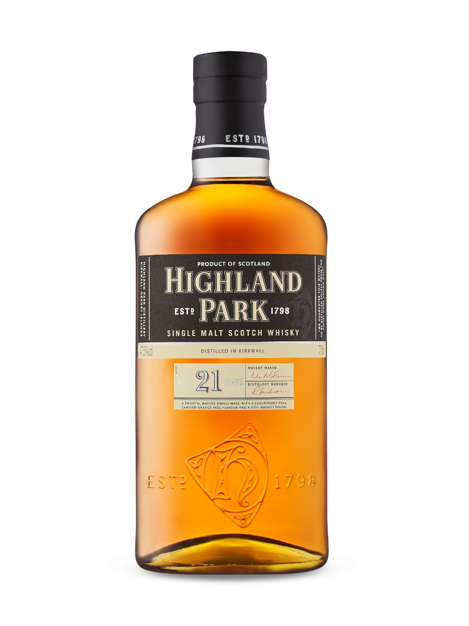 Single Malt Highland Park 21 ans d'âge