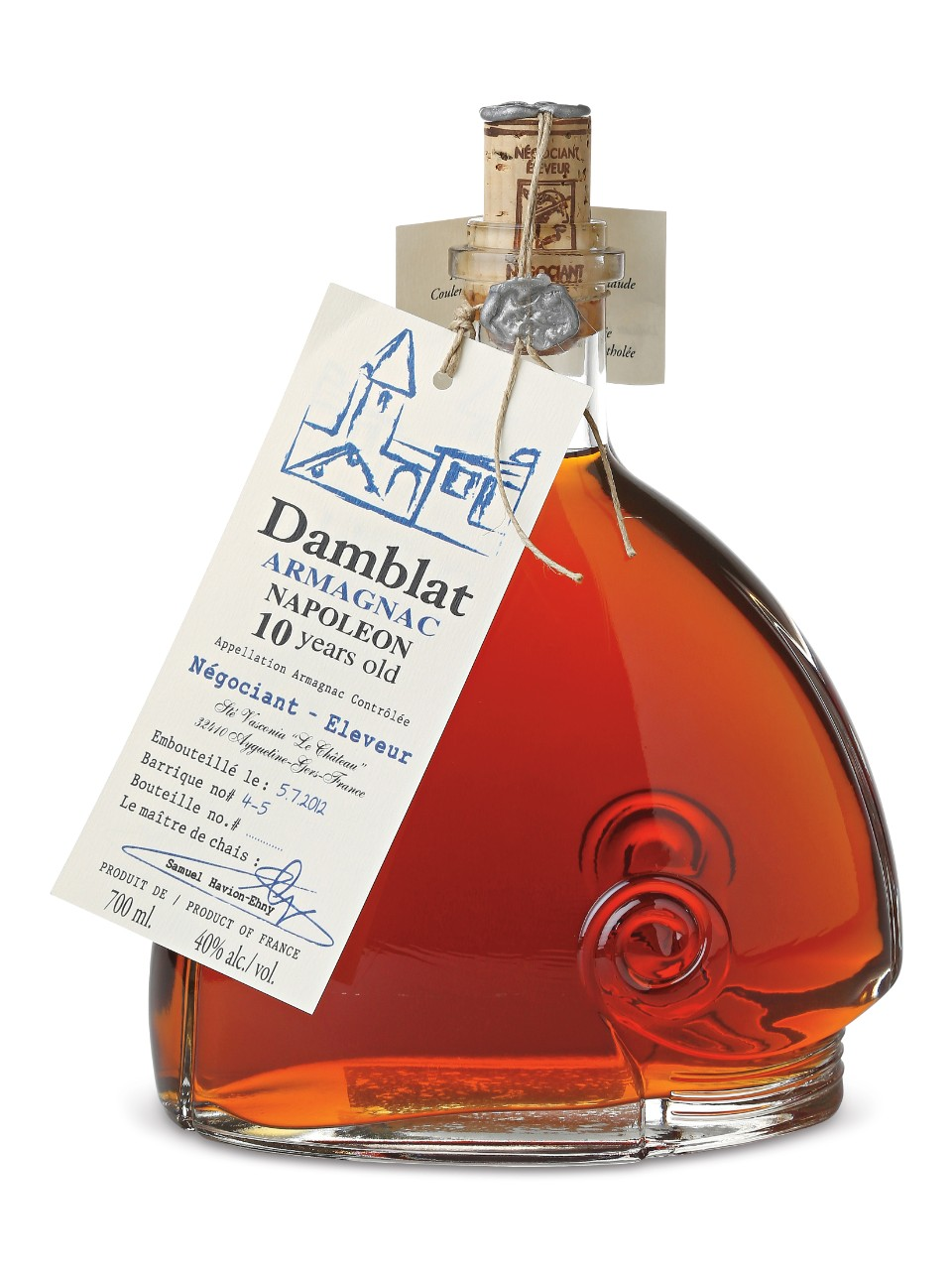 Image for Damblat Armagnac 10 Year Old Napoleon from LCBO