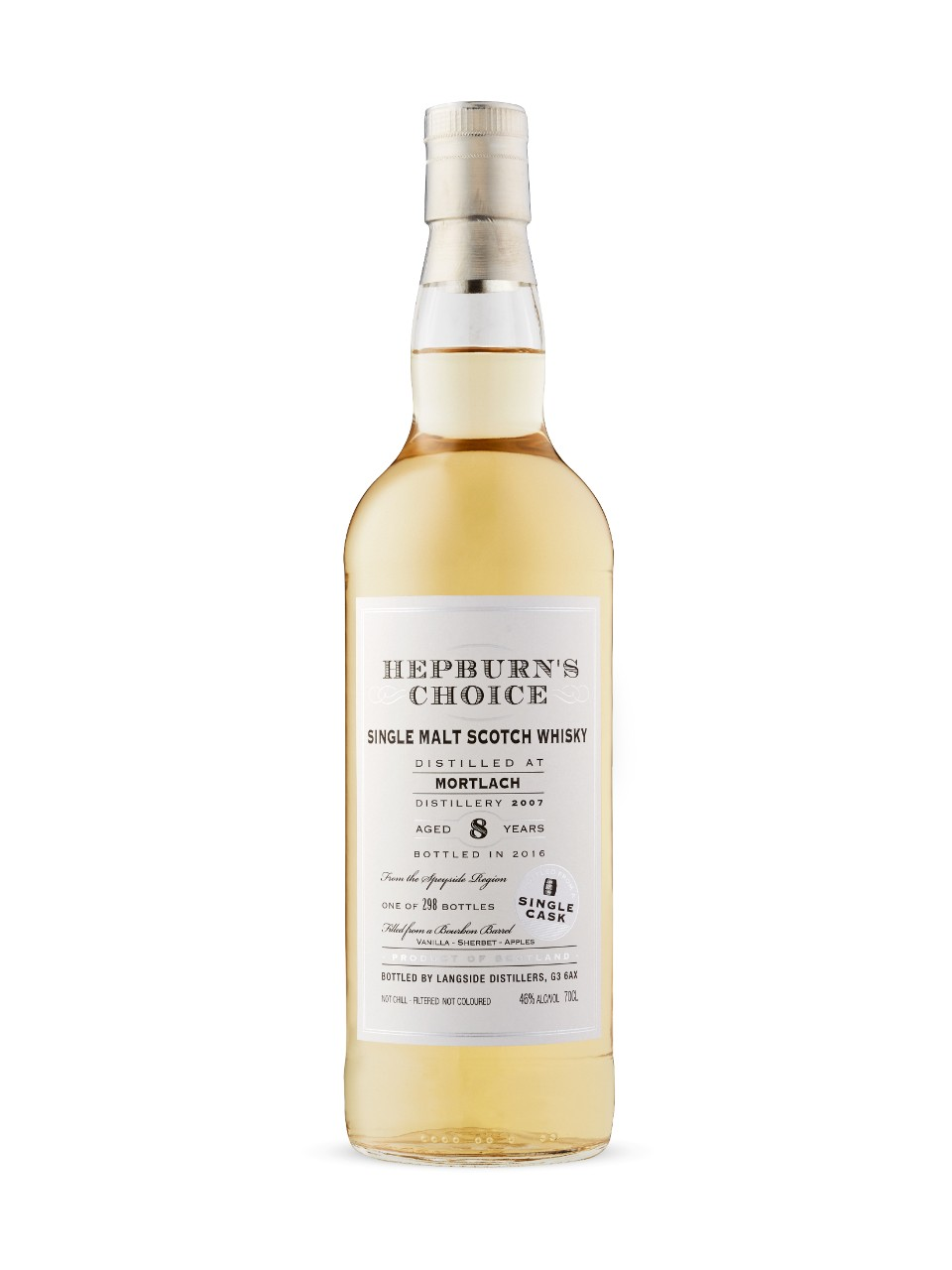 Hepburn's Choice Mortlach 8 Year Old Scotch
