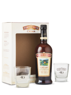 Forty Creek Cream Liquor With 2 Glasses GIft